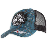 Kini-Red-Bull-Plaid-Trucker-lippis-sininen