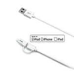 Celly-MicroUSB--kaapeli-Apple-Lightning-adapterilla-MFI-USBML