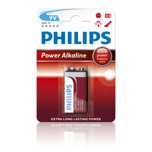 47-5881 | Philips Power Alkaline 9v (6LR61) paristo