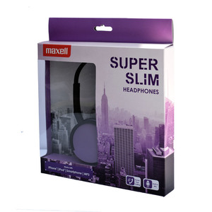 47-6737 | Maxell HP-200 Super Slims sankakuulokkeet purple