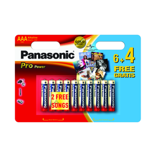 47-7117 | Panasonic Pro Power 10xAAA/R03 paristo
