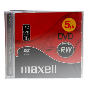 47-9085 | Maxell DVD-RW levy 6x 4,7GB JewelCase 5kpl