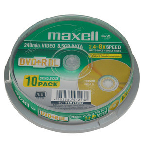 47-9100 | Maxell DVD+R 8,5gb Dual layer 10kpl Cakebox