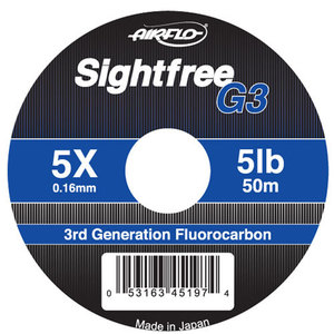 56-3174 | Airflo Sightfree G3 Fluorocarbon - perukesiima 0,28mm 50m