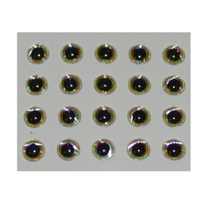 56-4307 | Hends Epoxy Eyes 3d  3,6mm gold holographic
