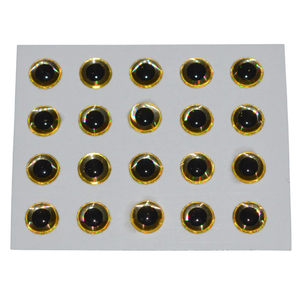 56-4309 | Hends Epoxy Eyes 3d 6mm gold holographic