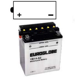 "90-0015 | Euroglobe MP-akku 12V 14Ah ""YB14-A2"" (P136xL91xK168mm)"